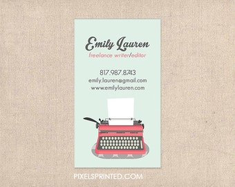 writer/editor business cards - thick, color both sides - FREE UPS ground shipping