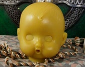 Baby Head Beeswax Candle Medium Size