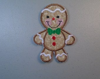 Christmas Gingerbread iron-on or sew-on applique  patch