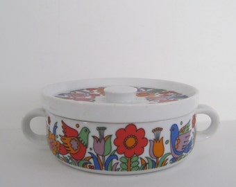Vintage Royal Crown Paradise Dish with Lid - made in Japan