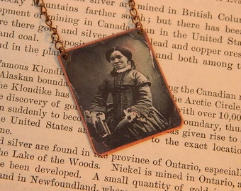 African American Necklace Victorian photography Black History jewelry  mixed media jewelry