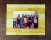 Customizable Lettepress Sorority Picture Frame Mat with Hand-rolled Ink