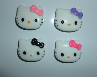 Kawaii Magnets, set of 4 Cute Hello Kitty Inspired Magnets