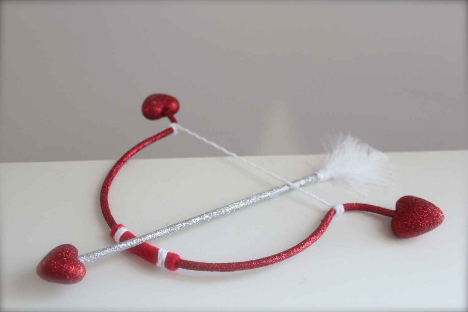 Cupid Red and White Heart Bow and Arrow Set Perfect