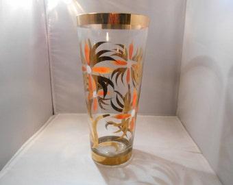 Vintage Handpainted Vase with 22kt Gold Embellishments