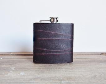 Custom Leather Flask, rustic leather hip flask personalised flask groomsmen hip flask boyfriend flask best man engraved flask gift for him