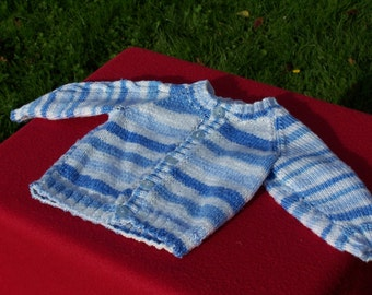 """HAND KNITTED """"All the Blues of the Ocean"""" Cardigan. (Ready to Ship) One Only."""