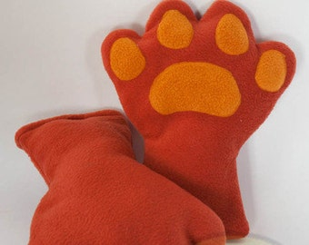 Rust Paws, Fleece, Claws, Accessory