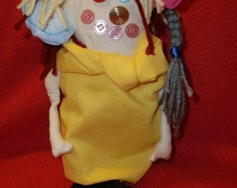 Monster Rag Doll, Halloween Rag Doll, Decorative Rag Doll, Collectible Rag Doll