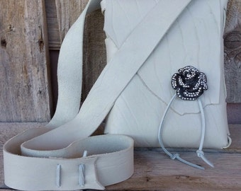 Handmade Leather Purse Soft White Lux Leather