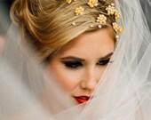 20_Bridal flower crown, Tiara flowers, Headband bride, Wedding crown, Gold crown, Headbands wedding, For bride, Wedding hair accessories.