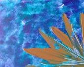 Modern Abstract Acrylic Fine Art on a Postcard P585