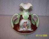 Ornate Victorian Look Vase, Hand Painted, Unusual