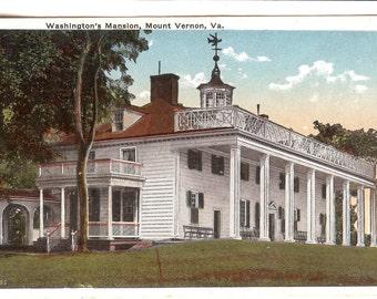Vintage Postcard...Washington's Mansion, Mount Vernon, VA....Unused...no. 2553