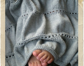 Baby Babar Knit Baby Blanket by Heirloom Stitches - PDF Download
