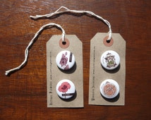 Choose - Pin Badge Pack of 2 - Lethal Flowers/Wonderful Inventions