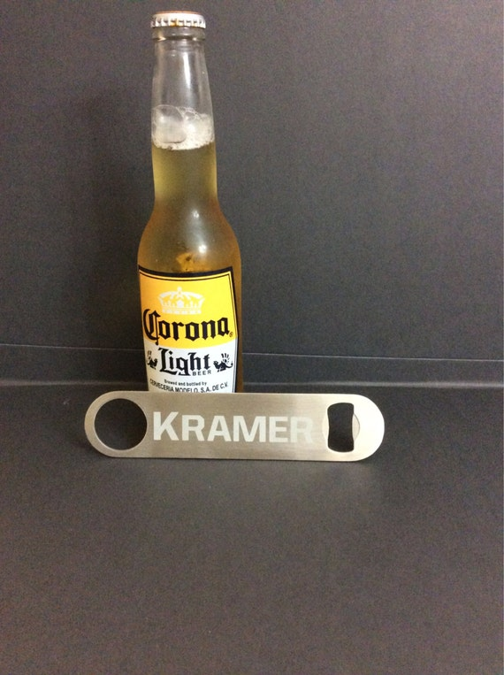 items similar to personalized bartenders bottle opener stainless steel bottle openers beer. Black Bedroom Furniture Sets. Home Design Ideas