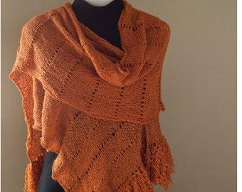 E Pattern Download knitting pashmina shawl