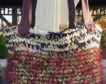 Red Tote Bag, Shoulder Purse, , Shoulder Bag, Ecofriendly Gift, Black Tote, Handmade Bag, Uoga Bag, Gifts for Women, Gifts under 25