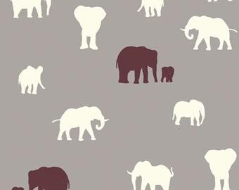 The Herd (Shroom) - Serengeti - Birch Fabrics - Organic Cotton - 1 Yard