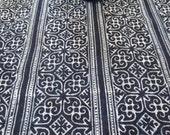 Hmong cotton-Indigo Batik New fabric, textiles and fabrics- From Thailand-Table runner,