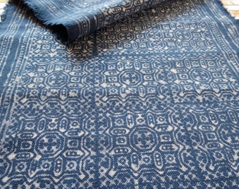 Hmong cotton, Vintage style fabric, Batki Hand-dyed textiles and fabrics- Table runner,