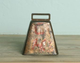 Copper Plated Cow Bell Vintage