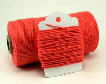 Coral Twine - Melon Colored Twine - Coral Divine Twine - Watermelon String - Tangerine Twine - Apricot Gift Wrap - Carrot Colored Twine