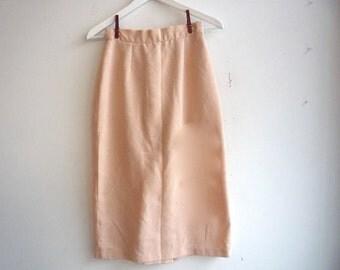 Light Pink Cream Peach Pencil Skirt xs / s
