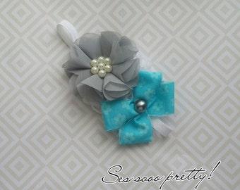Flower bow headband