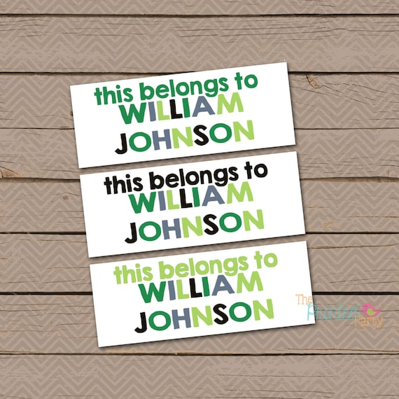 Dishwasher Safe Labels Daycare Personalized Waterproof Label Stickers Boy This Belongs to