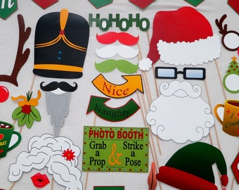 PDF - Christmas Photo Booth Props - PRINTABLE Photobooth DIY