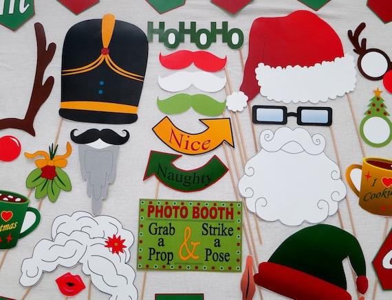 PDF - Christmas Photo Booth Props - PRINTABLE Photobooth DIY