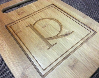 Initial Personalized Bamboo Cutting Board
