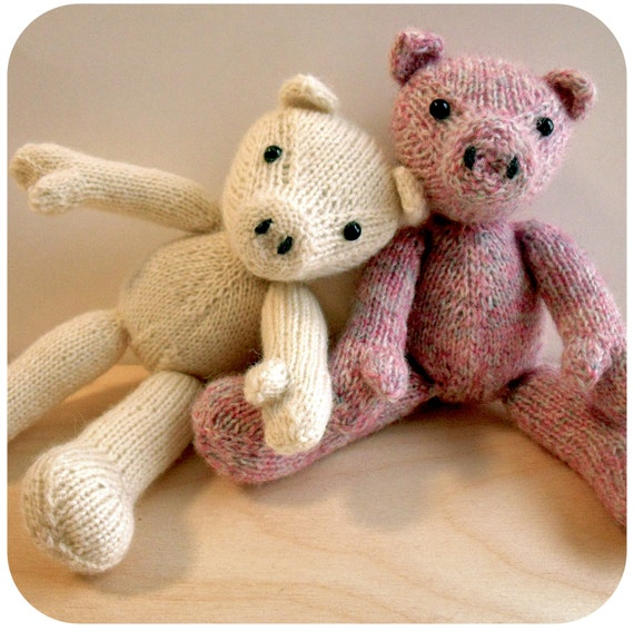 Little Pig Knitting Pattern Knitted Pig Toy Pattern Pig