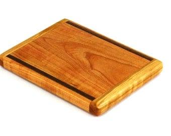 "Small Cheese Board, Wild Cherry and Black Walnut - Ready to Ship - 7-1/2"" x 5-3/4"" x 3/4"""