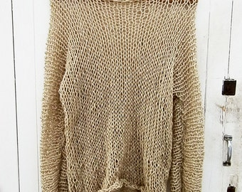 Simple is the best - Hand knitted womens sweater sweater