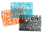 """Colored Acrylic Wedding Invitation Sample - """"FreeCut"""" Design Laser Cut From Color of Your Choice"""