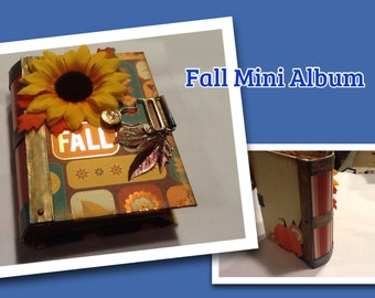 Fall Mini Scrapbook Album
