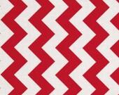 Fabric-Riley Blake Chevron Medium Red 1 yard