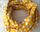 Mustard Dots Infinity Scarf (Adult/toddler/baby)