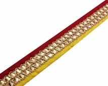 Yellow and Red Gota Patti - Gota Ribbon - Red, Gold and Yellow Gota Patti Border