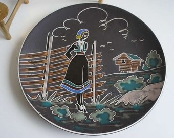 AWF Norway Mid Century Modern Ceramic Plate