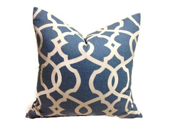 Ocean Blue Decorative Pillows : Blue Pillow,Decorative Pillow Cover, Ocean Blue Throw Pillow, Geometric Pillow, Lumbar Pillow ...