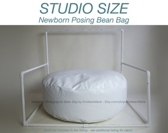 Newborn Bean Bag: Posting Beanbag for Photography - Large Studio Sized Poser Bean Bag - Large Newborn Bean Bag - Newborn Posing Nest