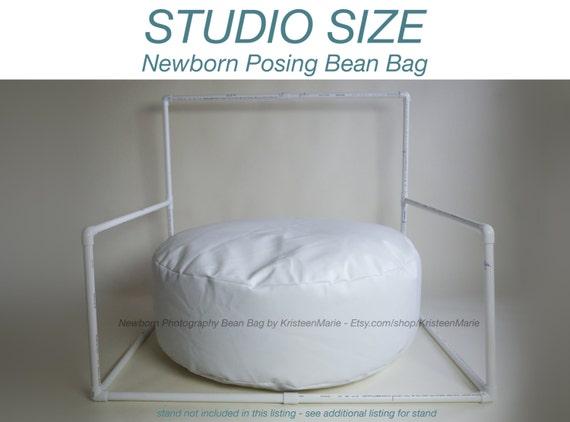 Newborn Bean Bag: Posting Beanbag for Photography - Large Studio Sized Poser Bean Bag - Large Newborn Bean Bag - Newborn Posing Nest