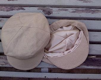 Linen  beige Tan newsboy hat, beret for boys, Great Gatsby hat, Hat for Boys, Little boy hats, Berets