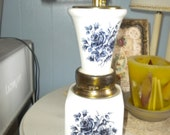 Lovely Vintage Made in Italy Coffee Grinder, Eclectic Kitchen, Blue roses, French Kitchen, French Country Kitchen