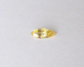 Natural Yellow Sapphire, Marquise Cut, 1.01 carat