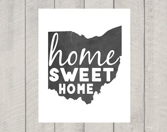 Ohio Home Sweet Home - Modern Art Print